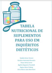 manual suplementos nutricionais