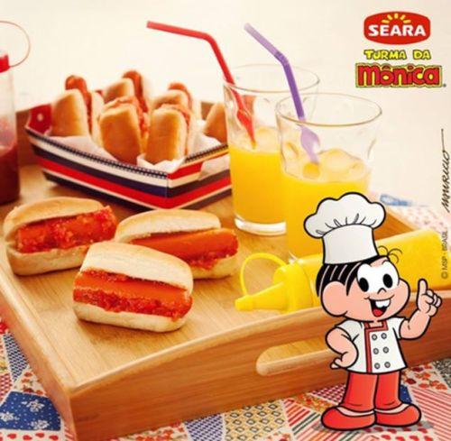 Imagem de anúncio de salsicha da Seara no Facebook
