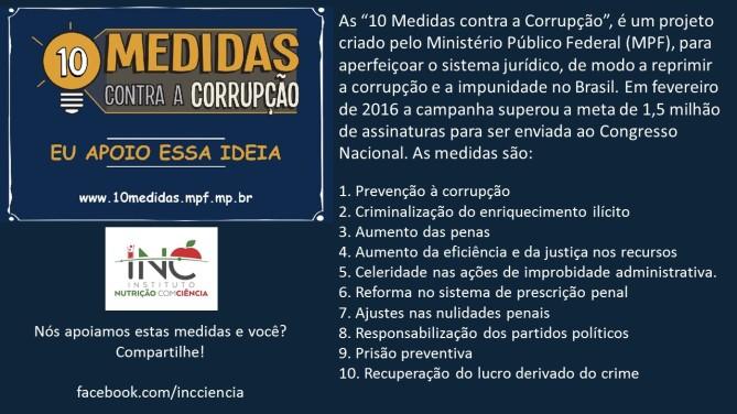 10 medidas contra corrupção
